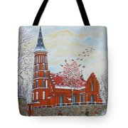 Winter Sunday Tote Bag