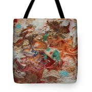 Winter Sunrise Abstract Painting Tote Bag by Julia Apostolova