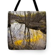 Winter Sunset At Williston Mill Tote Bag