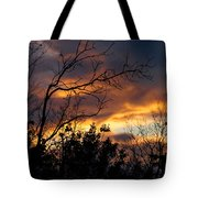 Winter Sunset In The Rogue Valley Tote Bag