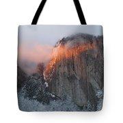 Winter Sunset On El Capitan Tote Bag