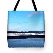 Winter Sunset On The Islands Tote Bag