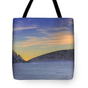 Winter Sunset Over Eagle Lakes Tote Bag