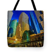 Winter Sunshine In Battery Park City Tote Bag