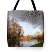 Winter Sunshine On The Wey Canal Surrey Uk Tote Bag