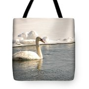 Winter Swan Tote Bag