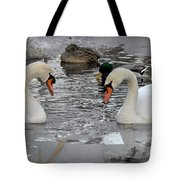 Winter Swans  Tote Bag