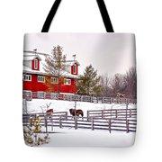 Winter Thoroughbreds Tote Bag