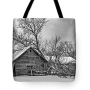 Winter Thoughts Monochrome Tote Bag