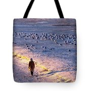 Winter Time At The Beach Tote Bag