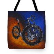 Winter Track Bicycle Tote Bag