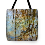 Winter Tree Reflections Tote Bag