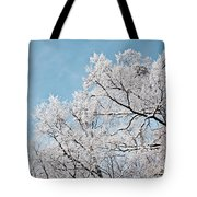 Winter Tree Scene Tote Bag