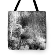 Winter Trees B And W 6 Tote Bag