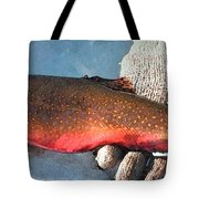 Winter Trout Tote Bag