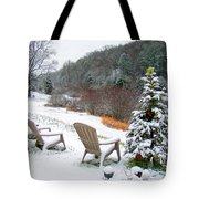 Winter Valley Chairs 2 Tote Bag