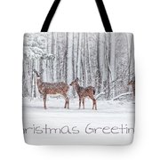 Winter Visits Card Tote Bag