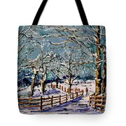 Winter Walk Tote Bag by Vickie Warner