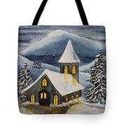 Winter Watercolor Tote Bag