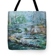 Winter Whispers On Catskill Creek Tote Bag