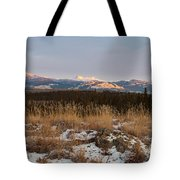 Winter Wilderness Landscape Yukon Territory Canada Tote Bag