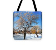 Winter Willow Tote Bag