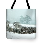 Winter Wonderland - Amazing Winter Landscape With Snow Falling Tote Bag
