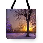 Winter Wonderland - Holiday Square - Casper Wyoming Tote Bag