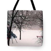 Winter Wonderland In Park Tote Bag