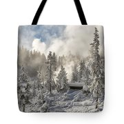 Winter Wonderland - Yellowstone National Park Tote Bag