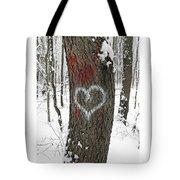 Winter Woods Romance Tote Bag