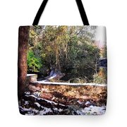 Winter Woods With Melting Snow Tote Bag