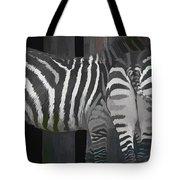 Winter Zebras Tote Bag
