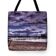 Winters Beach Solitude Tote Bag