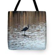 Winter's Blue Heron Tote Bag
