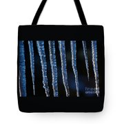 Winter Sun On Blue Ice Tote Bag