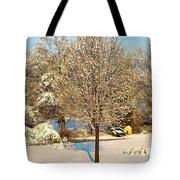 Winters Bradford Pear Tote Bag