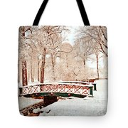 Winter's Bridge Tote Bag