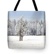 Winter's Coat Tote Bag by Dee Cresswell