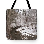 Winter's Country Stream Tote Bag