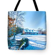 Winters Day Photo Art From The Fence Tote Bag