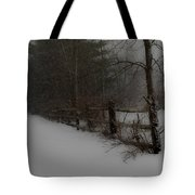 Winter's Fence Tote Bag