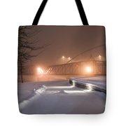 Winter's Night Stroll Tote Bag