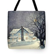 Winter's Silent Night Tote Bag
