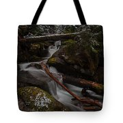 Winters Stream Flow Tote Bag