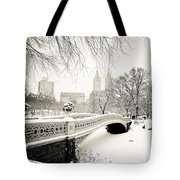 Winter's Touch - Bow Bridge - Central Park - New York City Tote Bag