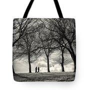 Winters Walk Tote Bag