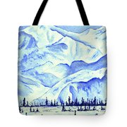 Winter's White Blanket Tote Bag