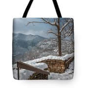 Wintertime At Hawks Nest  Tote Bag