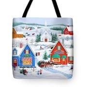 Wintertime In Sugarcreek Tote Bag